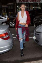Gigi Hadid Street Style - New York 9/10/2016