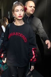 Hailey Baldwin - Arriving at a Fashion Show in Milan 9/25/ 2016
