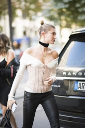 Hailey Baldwin - Out in Paris 9/28/2016