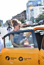 Helena Bonham Carter - Catching a Cab in New York City 9/22/2016