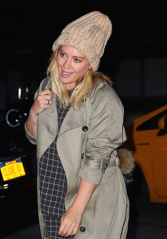 Hilary Duff at Her Hotel in New York City 9/25/ 2016