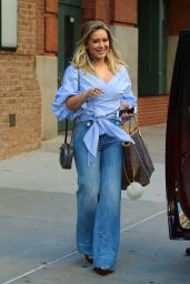 Hilary Duff Casual Style - Leaving Her Hotel in NYC 9/26/ 2016