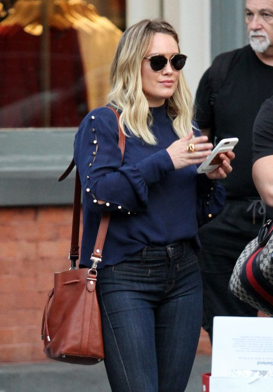 Hilary Duff - Out in New York City 09/15/2016