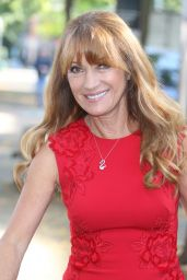 Jane Seymour in Red Dress - at the ITV Studios in London 9/21/2016