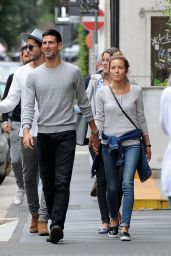 Jelena Djokovic With husband Novak Djokovic in Milan, Italy 9/21/2016