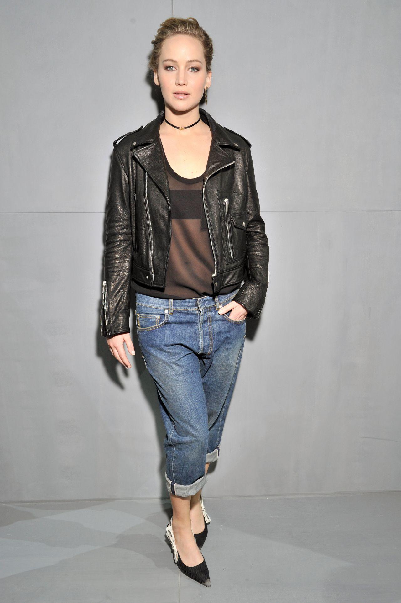 Jennifer Lawrence Christian Dior Show At Paris Fashion