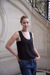 Jennifer Lawrence - Christian Dior Show at Paris Fashion Week 9/30/2016