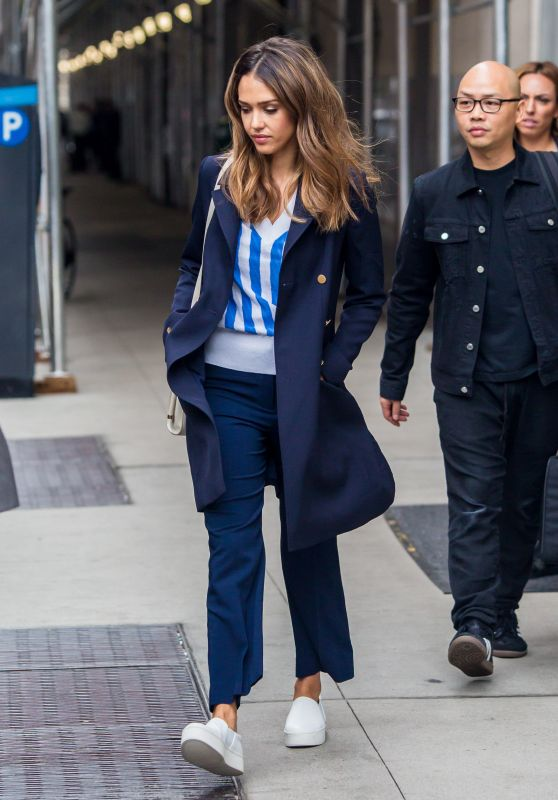 Jessica Alba Casual Style - Heading to a Private Event to Promote Zico Coconut Water in NYC 9/29/2016