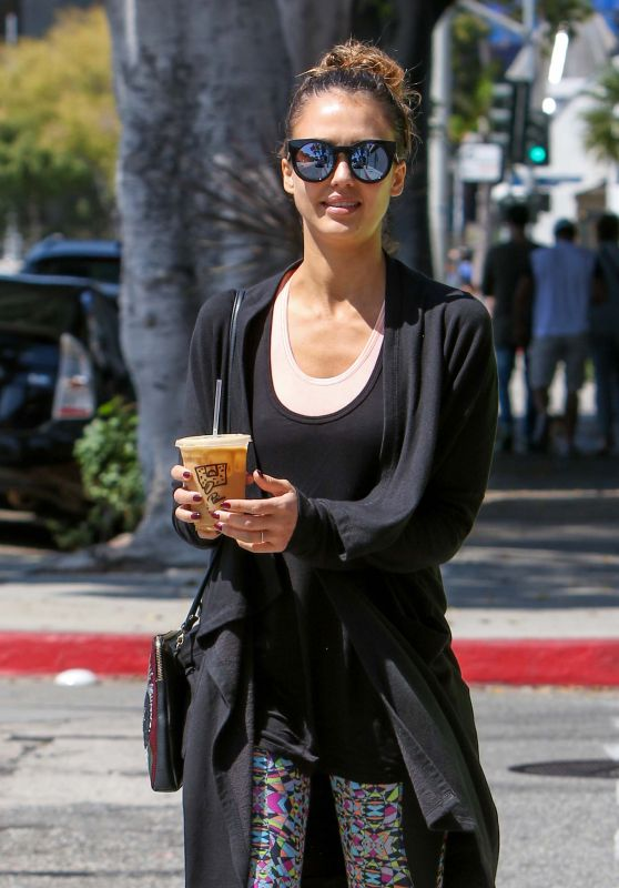 Jessica Alba - Leaving a Gym in Los Angeles, September 2016