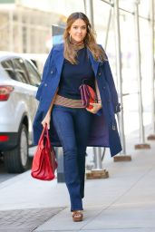 Jessica Alba Office Chic Outfit - New York City 09/13/2016