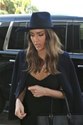 Jessica Alba Travel Outfit - Departing From LAX Airport 9/27/ 2016