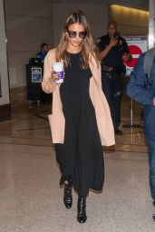 Jessica Alba Travel Style - LAX in Los Angeles 8/31/2016