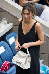 Jessica Alba - U.S. Open 2016 in NYC, SEptember 2016
