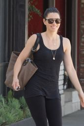 Jessica Biel in Tights - at Pilates Class in Studio City 9/8/2016