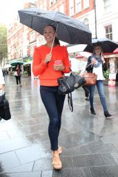 Jessica Ennis - Arriving at Global Radio in London 9/29/2016