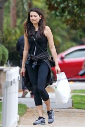 Jessica Gomes in Leggings - Shopping in Beverly Hills 9/19/2016