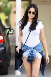 Jessica Gomes Leggy in Shorts - Heading to a Studio in Los Angeles 9/28/2016