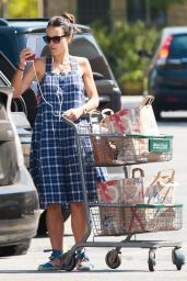 Jordana Brewster - Shopping at Bristol Farms in Los Angeles 9/4/2016
