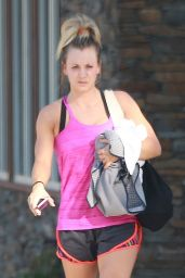 Kaley Cuoco in Shorts - Leaving Yoga Class in Studio City 9/15/2016