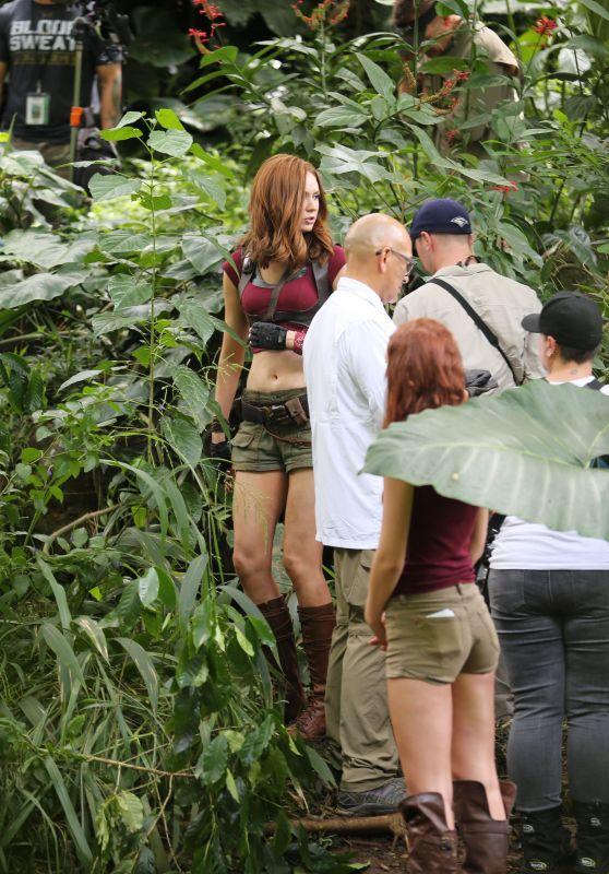 Karen Gillan - Filming