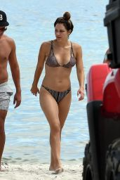 Katharine McPhee in a Bikini - Beach in Miami, September 23, 2016