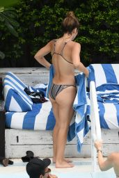 Katharine McPhee in a Bikini by the Pool in Miami, September 24, 2016