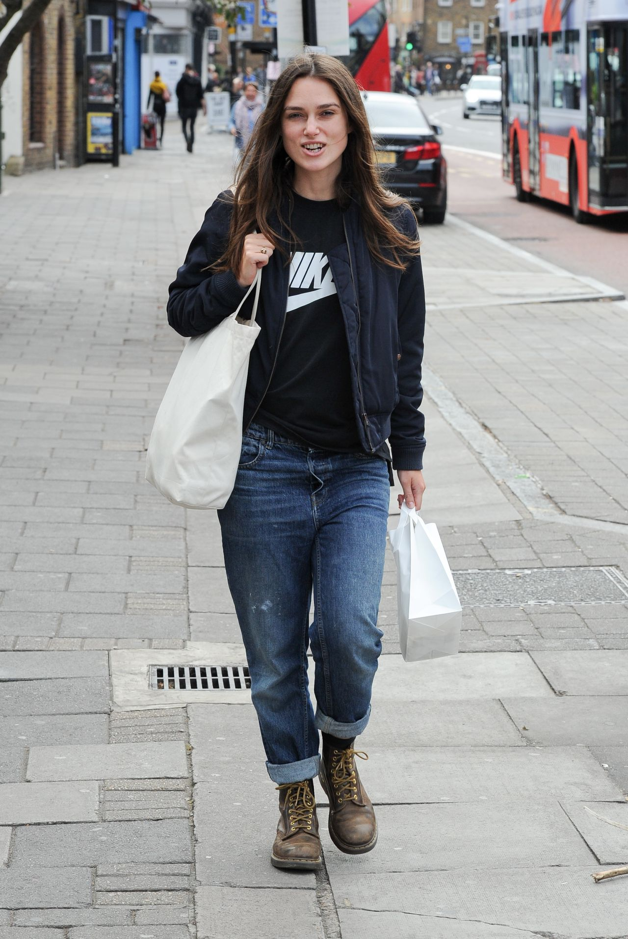 Keira Knightley Street Style - Out for Lunch in London 9 ...