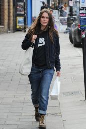 Keira Knightley Street Style - Out for Lunch in London 9/28/2016