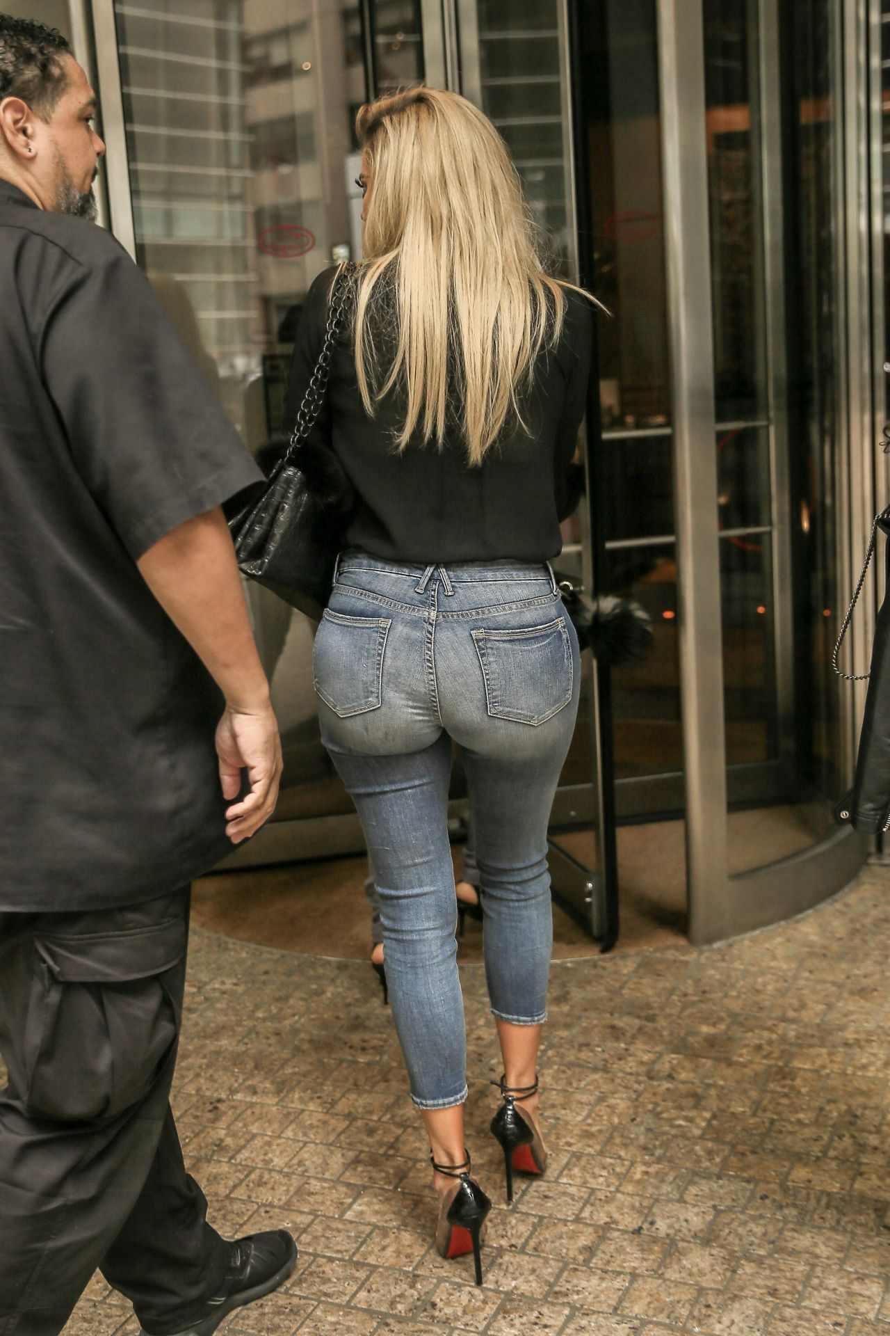 Khloe Kardashian In Tight Jeans Promoting Her Denim Line