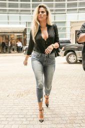 Khloe Kardashian in Tight Jeans Promoting Her Denim Line - New York 9/20/2016
