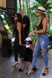 Kim Kardashian, North West and Khole Kardashian - Out in Miami Beach 9/18/2016