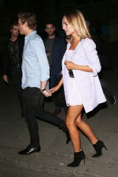 Kimberley Garner - Leaving The FeiFei Cicada Show - London Fashion Week 9/19/2016