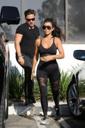 Kourtney Kardashian in Spandex - Out in Calabas 9/26/ 2016