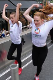 Larsen Thompson & Taylor Hatala - 2016 Global Goals Girls Bus in New York City 9/20/2016