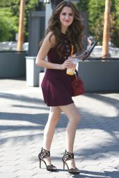 Laura Marano - On the Set of Extra in Los Angeles 9/7/2016