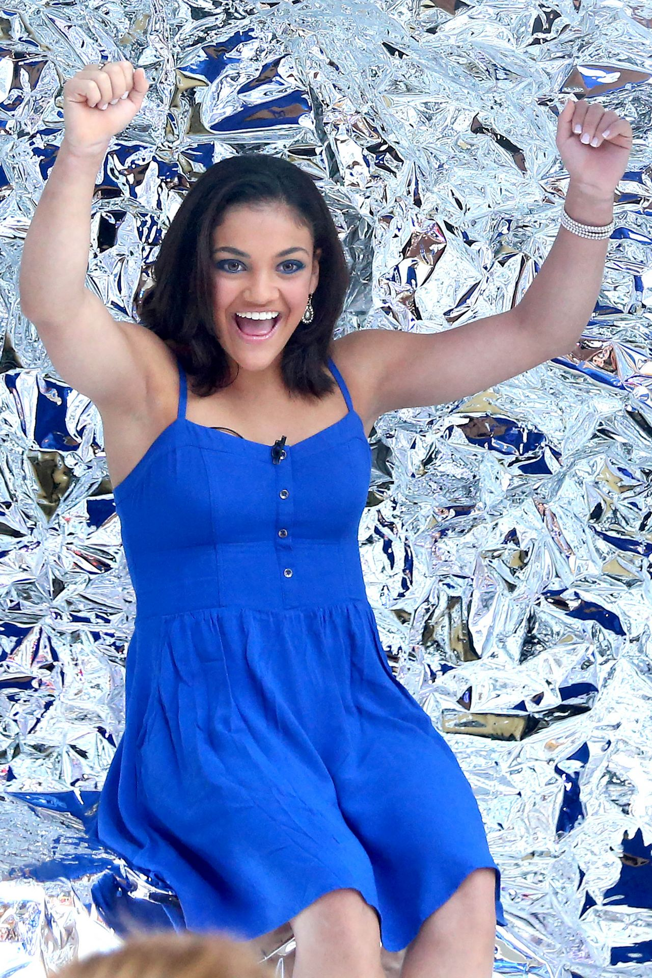 Laurie Hernandez at 'Good Morning America' in New York