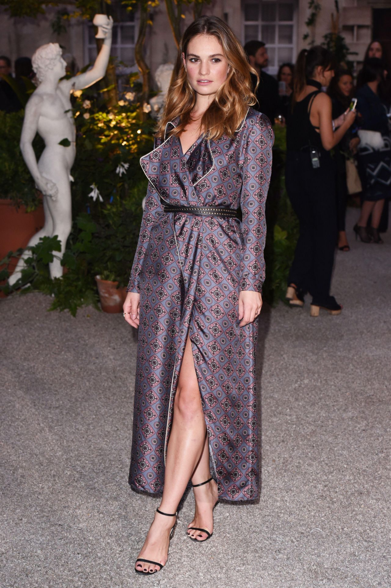 Lily James At Burberry Show London Fashion Week 09 19 2016