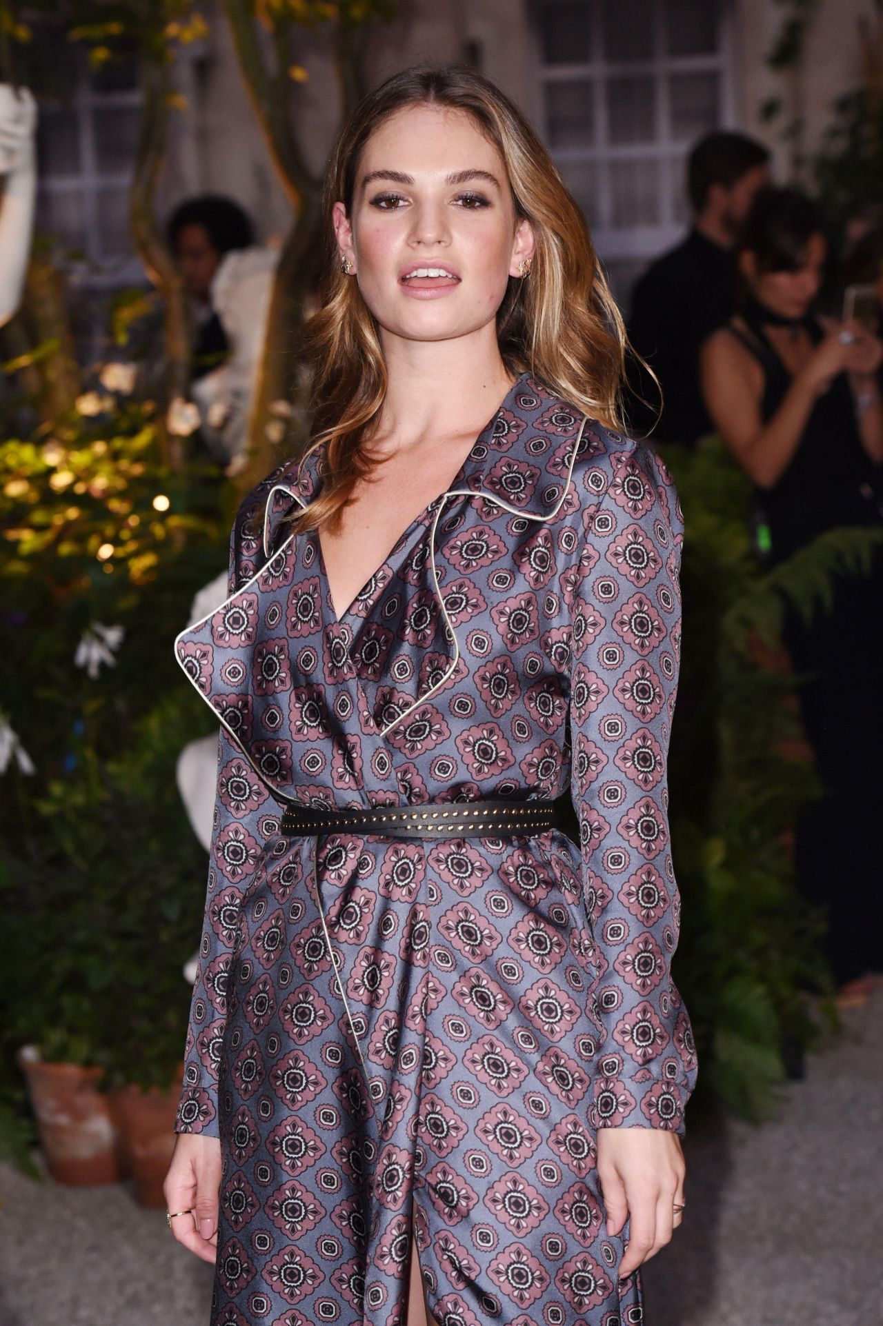 Lily James at Burberry...