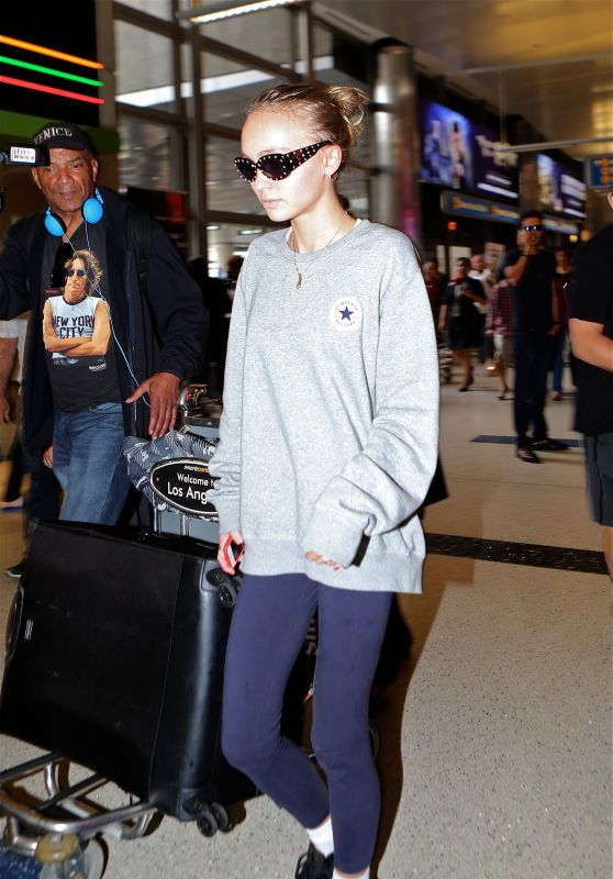 Lily-Rose Depp - Arriving at LAX in Los Angeles 9/20/2016