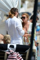 Lindsay Lohan - Changing From a Swimsuit to a Bikini - Mykonos, Greece 8/31/2016