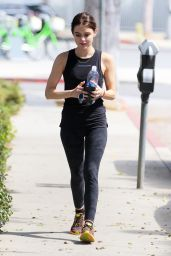 Lucy Hale in Tights - Arriving at a Gym in Los Angeles 9/27/ 2016