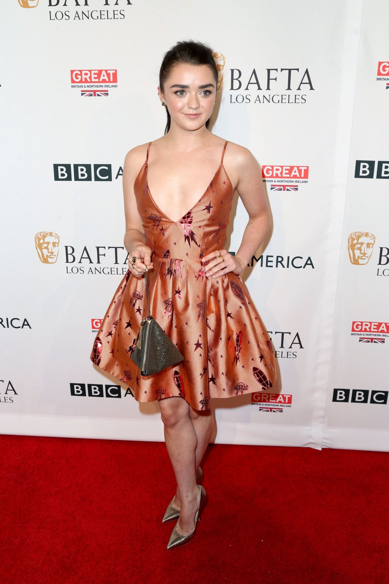 Maisie Williams Bafta Los Angeles Tv Tea Party In West