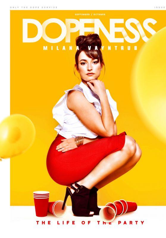 Milana Vayntrub - Dopeness Magazine September/October 2016 Cover and Photos