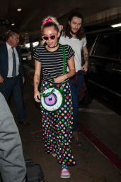 Miley Cyrus - LAX Airport in Los Angeles 9/30/2016