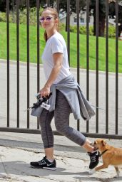 Minka Kelly - Walking Her Dog in Hollywood Hills 09/12/2016