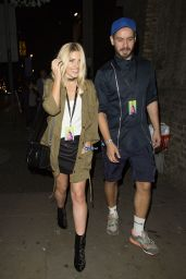 Mollie King - Leaving Apple Music Festival in London, UK 9/27/2016