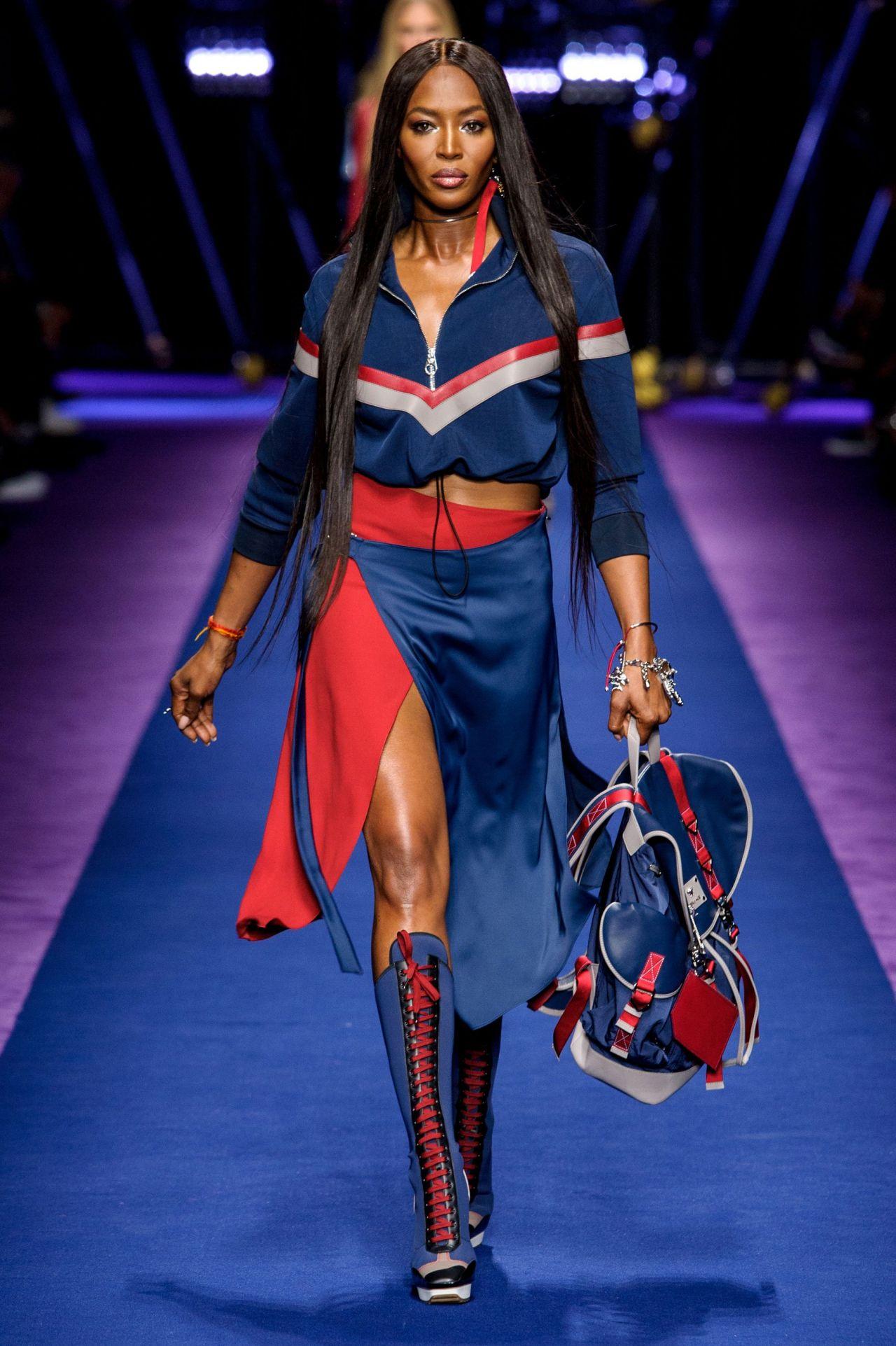 Naomi Campbell - Versace S/S 2017 Show in Milan, September