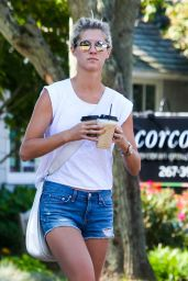 Nicky Hilton in Jeans Shorts - Grabs Coffee in the Hamptons 9/4/2016