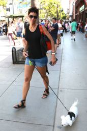 Nicole Murphy - Walking Her Dog in Santa Monica 9/5/2016