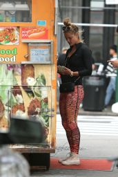 Nina Agdal Street Style - Out in NYC 09/28/2016